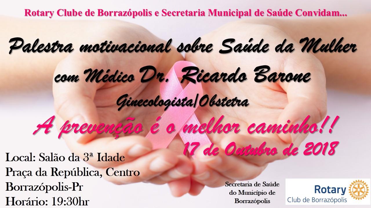 Convite Palestra Sobre A Saúde Da Mulher Com Dr Barone Em